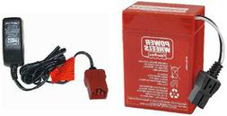 00801-0712 6 Volt Red Battery & Charger Combo Power Wheels 6