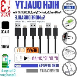 """1,2,3x 8"""" 10"""" 12"""" Short 8-pin USB Charger Charging Cord Wire"""