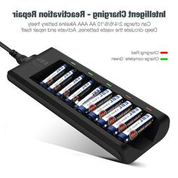 10 bay alkaline battery charger for disposable