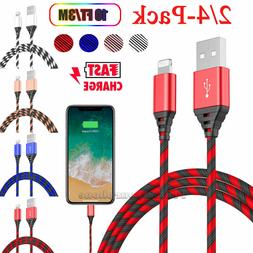 10 Ft Long Cable Heavy Duty Charger Charging Cord For iPhone