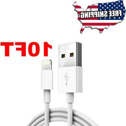 10 ft Long NEW USB Lightning Cable For iPhone X 5S 6 7 8 Pus
