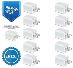 10-Pack Wall Chargers 5W USB Power Adapters Plug Outlet 1A C