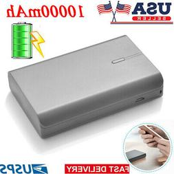 10000mAh Dual USB External Battery Power Bank Charger For iP
