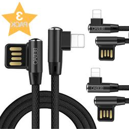 10Ft 3PACK USB Lightning Cable Heavy Duty iPhone 6S 7 8 X Ch