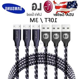 10Ft / 3M Micro USB 3.0 Fast Charger Data Sync Cable Cord Sa