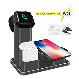 SHARKSBox 10W Fast Wireless Charger Stand for iPhone Xs Max,
