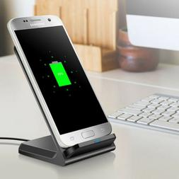 10W Qi Wireless Fast Charger Charging Dock Stand Pad For Sam
