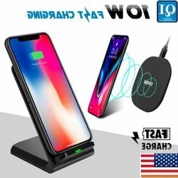 10w wireless charging stand qi fast charger