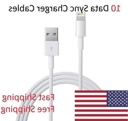 10x 3 Foot 8 Pin USB Charger Cord Data Sync Cable for iPhone