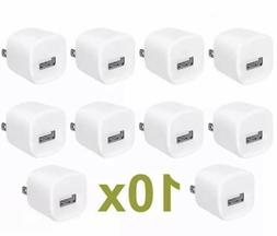 10x White 1A USB Power Adapter AC Home Wall Charger US Plug