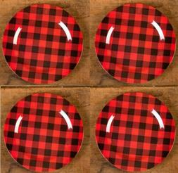 """Ragon House 12"""" Red Black Buffalo Check Charger Under Plate"""