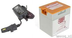 12 Volt Orange Battery & Charger Combo Power Wheels Fisher P