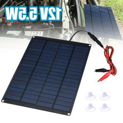 12V 5.5W Home Car Camping Boat Battery Charger Solar Panel w
