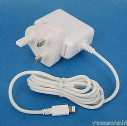 12W AC Adapter Wall Charger with UK British Plug WHITE for i