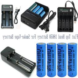 18650 flat top battery 3000mAh High Drain Rechargeable for V
