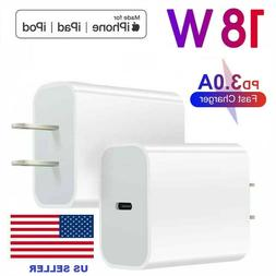 18W USB-C Power Adapter Wall Charger For iPhone 11 12 Pro Ma