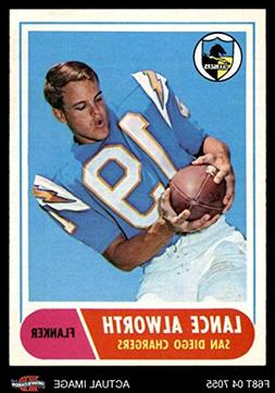 1968 Topps # 193 Lance Alworth San Diego Chargers  Dean's Ca