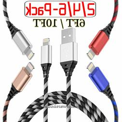 2-4-6 Pack Lightning Cable Heavy Duty iPhone 6 S 7 8 XS XR C