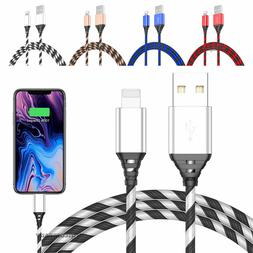 2 Pack Long Cable Lightning Charger Charging For iPhone 8 7