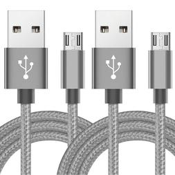 2-Pack 6FT Micro USB Cable Fast Charge Data Sync Charger Cor