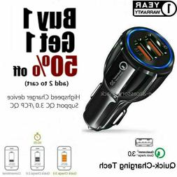 2 Port USB Fast Car Charger 3.0 Dual USB For Samsung iPhone