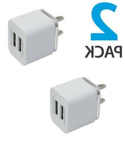 2 X Universal 2.1/1A Travel Dual Port AC USB Wall Charger fo