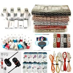 200 iPhone Charging Cables Sync Braided Fast Charger Bulk Re