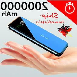 2020 Power Bank 900000mAh Qi Wireless Charger Portable Polym