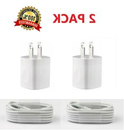 2PACK USB Home AC Wall charger For iPhone X Xs MAX 8 7 6 5 5