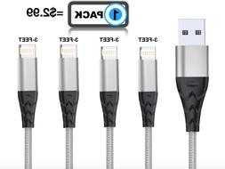 3 FT 1M Lightning Cable Heavy Duty For iPhone 8 7 6plus Char