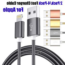 3 Ft Lightning Cable Heavy Duty iPhone 8 7 6 Plus Charger Ch
