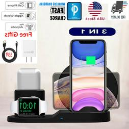 3 in 1 QI Wireless Charger Charging Station Dock For Apple W