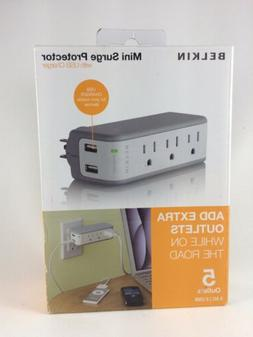Belkin 3-Outlet Mini Travel Swivel Charger Surge Protector w