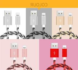 3 Pack 10 Ft Long Cable Heavy Duty Charger Charging Cord for