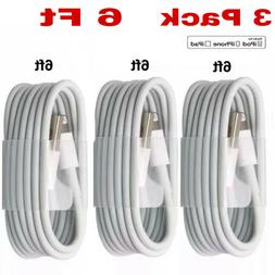 3-PACK 6FT USB Data Charger Cables Cords For iPhone 11 Pro M