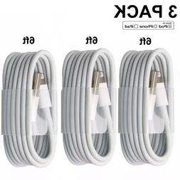 3-PACK 6FT USB Data Charger Cables Cords For Apple iPhone 5