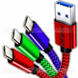 3-PACK Micro USB Nylon Braided USB Data Sync Charger Chargin