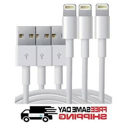 3-Pack USB Sync Data Charging Charger Cables Cord fits Apple