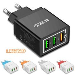 3 Port Fast Quick Charge QC 3.0 USB Hub Wall Charger Power A