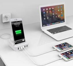 30W 5-Ports USB Wall Charger Adapter For Multiple Devices W/