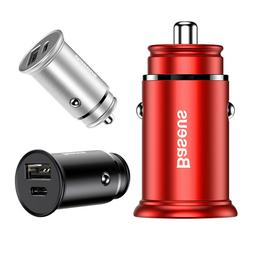 30W Fast Charging Car Charger USB Type-C PD Quick Charger QC