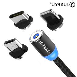 360 led magnetic charging cable for font