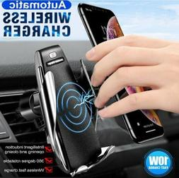 Automatic Qi Wireless Car Charger Suction Cup Holder for iPh