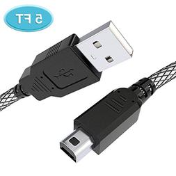 6amLifestyle 3ds Charger Cable, 5FT High Speed USB Power Cha