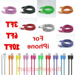 For iPhone 7 8 11 12 + Plus XS XR 8 PIN Charger Cable 3/6/10