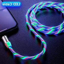 3in1 Magnetic Flowing Fast Charging Cable Type C Micro USB P