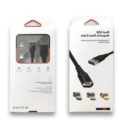 3in1 Magnetic Lightning/Type C/USB IPHONE Data Sync Fast Cha