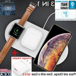 3in1 qi wireless charger charging dock station