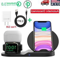 3in1 QI Wireless Charger Charging Station Dock Apple Watch i