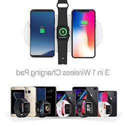 3in1 Qi Wireless Charger Pad Fast Charging For Apple Watch i